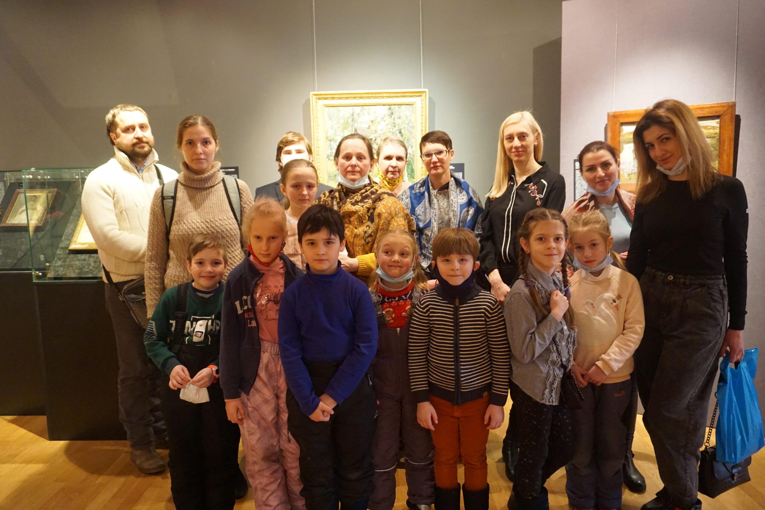 Семейные занятия в арт-студии «Синяя птица».